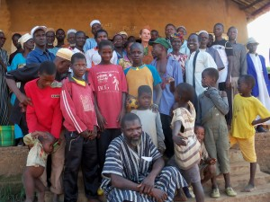 The group I worked with in Nialeya, Guinea. About every man was a beekeeper!