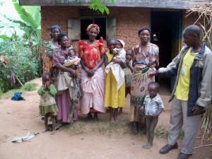 Beekeeper's family in Uganda. Hi Simeon!